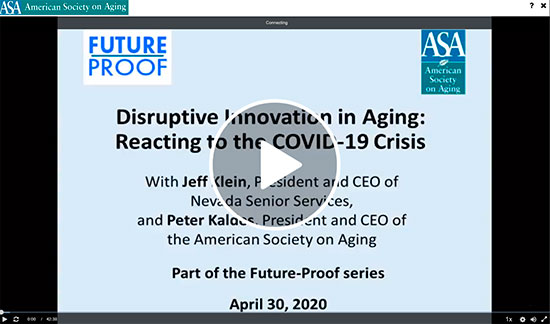 Nevada Senior Services - Adult Day Care Centers of Las Vegas and Henderson - Jeff Klein Video Interview with American Society on Aging President and CEO, Peter Kaldes